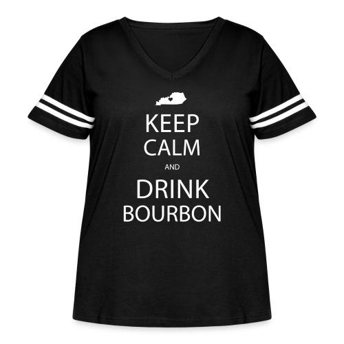 Keep Calm and Drink Bourbon - Women's Curvy Vintage Sport T-Shirt