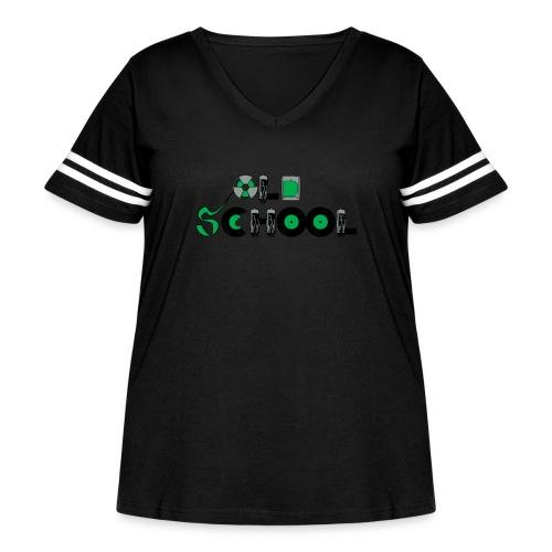 Old School Music - Women's Curvy Vintage Sport T-Shirt