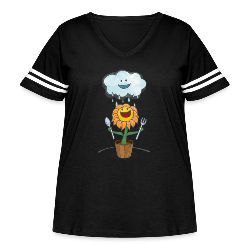 Cloud & Flower - Best friends forever - Women's Curvy Vintage Sport T-Shirt