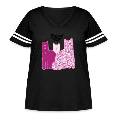 Miranda Sings Favorite Cats - Women's Curvy Vintage Sport T-Shirt