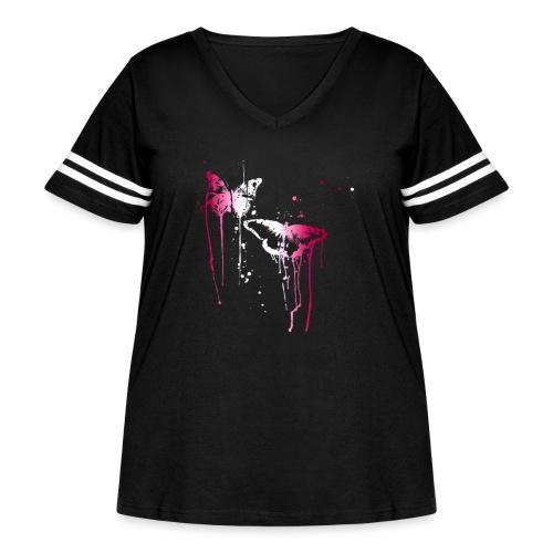 Dripping Butterflies - Women's Curvy Vintage Sport T-Shirt