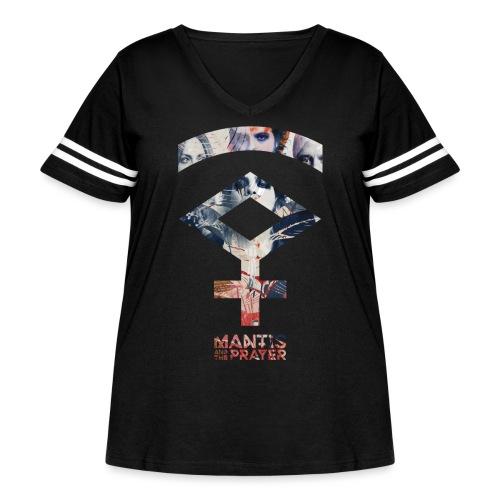 Mantis and the Prayer- Symbol Design - Women's Curvy Vintage Sport T-Shirt