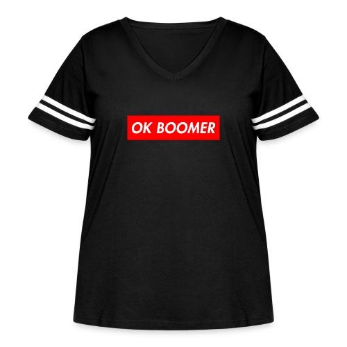 ok boomer merch - Women's Curvy Vintage Sport T-Shirt