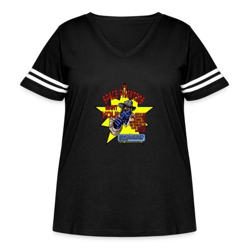 Space Phantom - Women's Curvy Vintage Sport T-Shirt