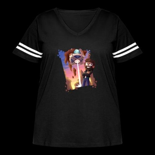 xBase - Women's Curvy Vintage Sport T-Shirt