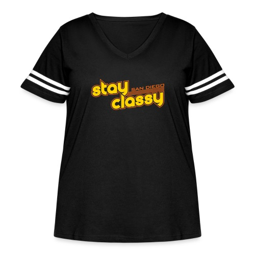Stay Classy San Diego - Women's Curvy Vintage Sport T-Shirt