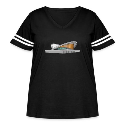 Congress Hall BERLIN - Women's Curvy Vintage Sport T-Shirt