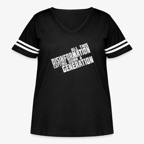 Disinformation - Women's Curvy Vintage Sports T-Shirt