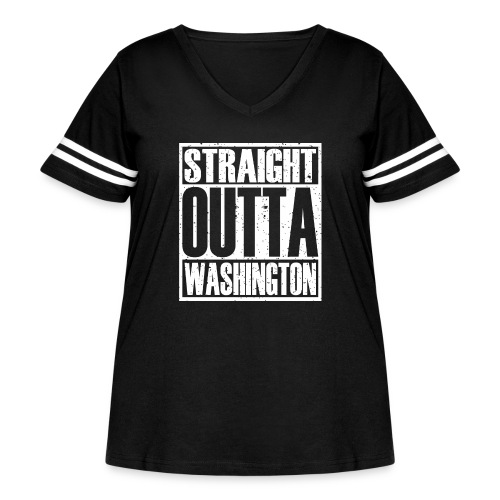 Straight Outta Washington - Women's Curvy Vintage Sport T-Shirt