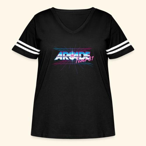 Arcade Fever 81 - Women's Curvy Vintage Sport T-Shirt