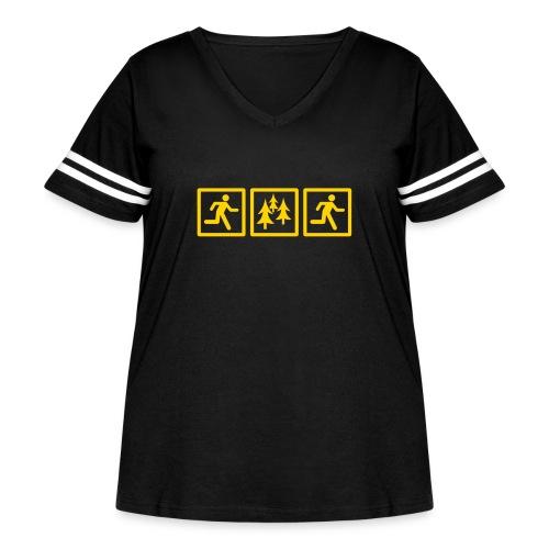 RUN FOREST RUN - Women's Curvy Vintage Sport T-Shirt