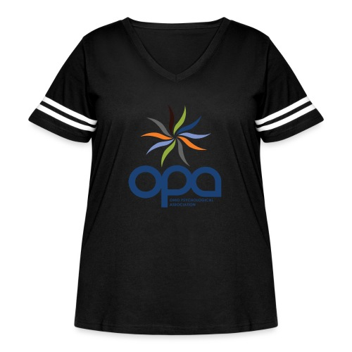 Short-sleeve t-shirt with full color OPA logo - Women's Curvy Vintage Sport T-Shirt