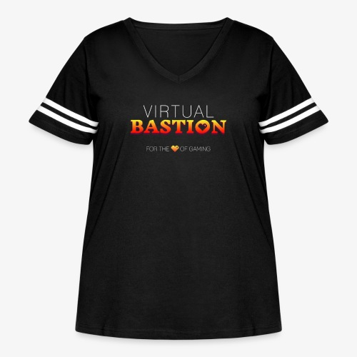 Virtual Bastion: For the Love of Gaming - Women's Curvy Vintage Sport T-Shirt