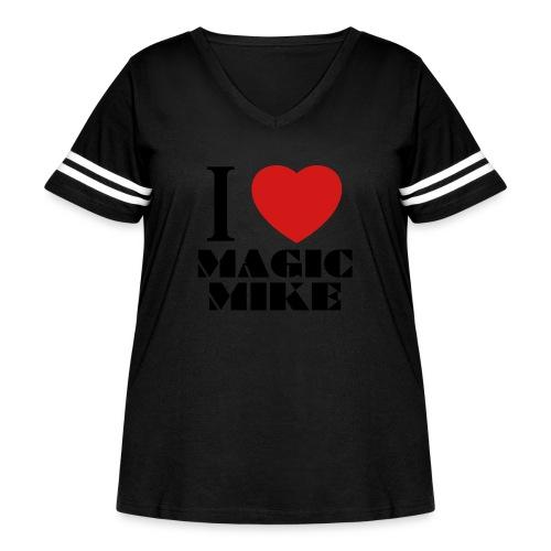 I Love Magic Mike T-Shirt - Women's Curvy Vintage Sport T-Shirt