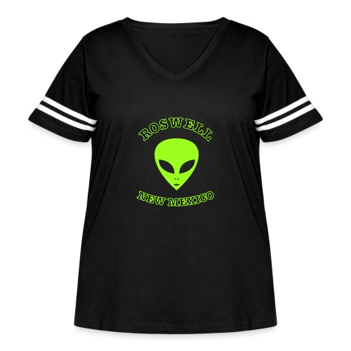 Roswell New Mexico - Women's Curvy Vintage Sport T-Shirt
