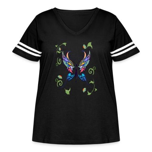 Bright Butterfly - Women's Curvy Vintage Sport T-Shirt