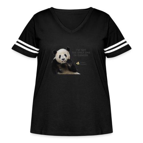 Endangered Pandas - Josiah's Covenant - Women's Curvy Vintage Sport T-Shirt