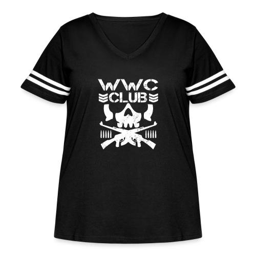 WWCClubLogo - Women's Curvy Vintage Sport T-Shirt