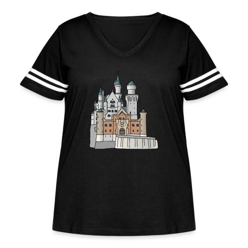 Neuschwanstein Castle, Bavaria - Women's Curvy Vintage Sport T-Shirt