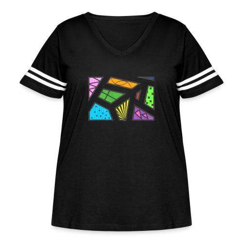 geometric artwork 1 - Women's Curvy Vintage Sport T-Shirt