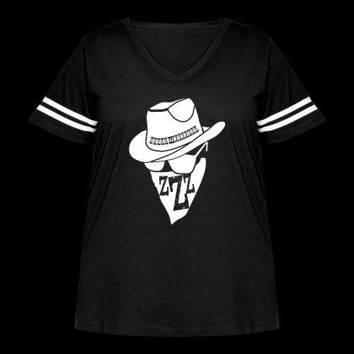 DREAM BANDITS WHITE Large Logo - Women's Curvy Vintage Sport T-Shirt