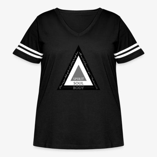 Spirit Soul Body - Women's Curvy Vintage Sport T-Shirt