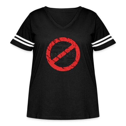 No Excuses | Vintage Style - Women's Curvy Vintage Sport T-Shirt