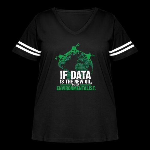 Data Environmentalist - Women's Curvy Vintage Sport T-Shirt
