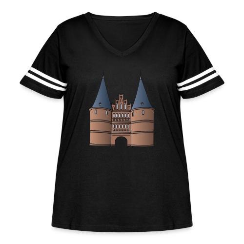 Citygate, Holstentor Lübeck - Women's Curvy Vintage Sport T-Shirt