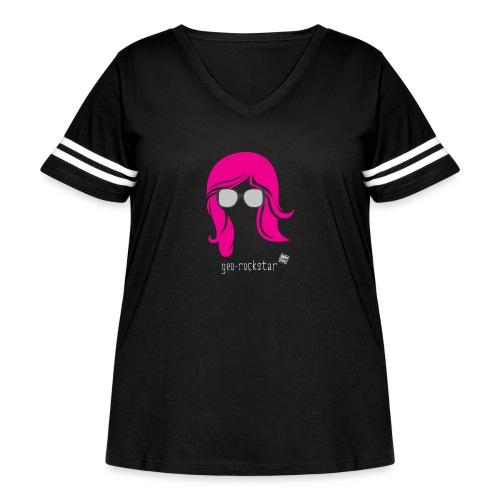 Geo Rockstar (her) - Women's Curvy Vintage Sport T-Shirt