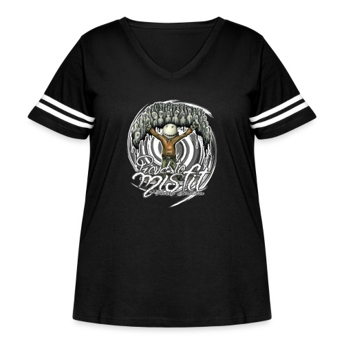 proud to misfit - Women's Curvy Vintage Sport T-Shirt