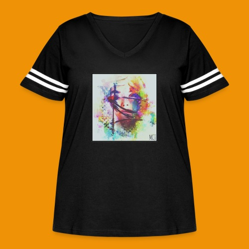 Trapped - Women's Curvy Vintage Sports T-Shirt