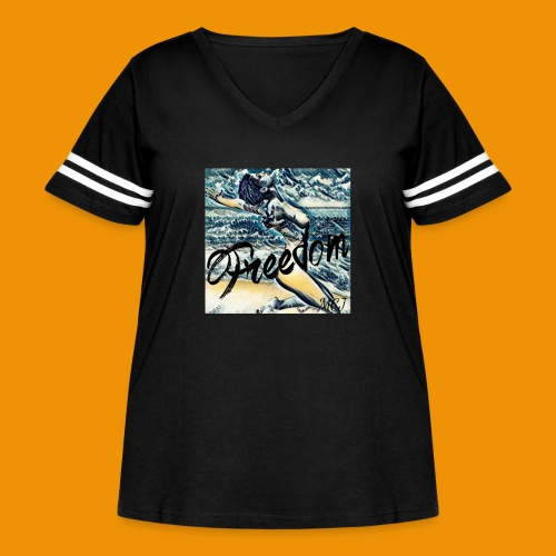 Freedom - Women's Curvy Vintage Sport T-Shirt