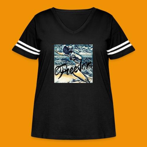 Freedom - Women's Curvy Vintage Sports T-Shirt