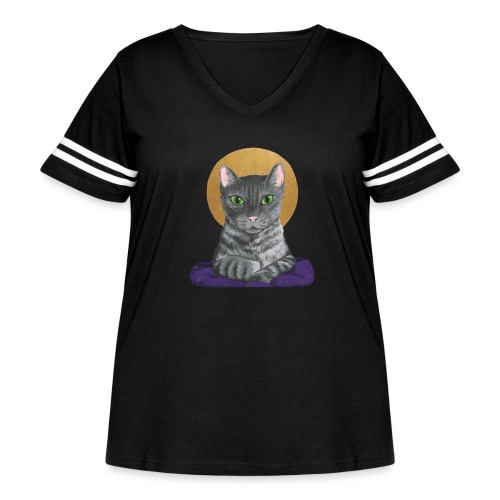 Lord Catpernicus - Women's Curvy Vintage Sport T-Shirt