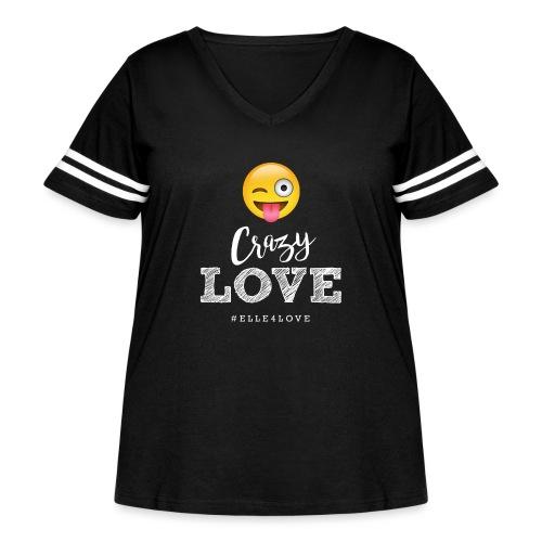 Crazy Love - Women's Curvy Vintage Sport T-Shirt