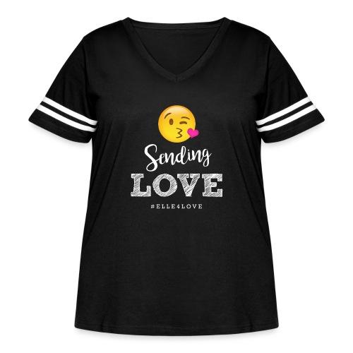 Sending Love - Women's Curvy Vintage Sport T-Shirt