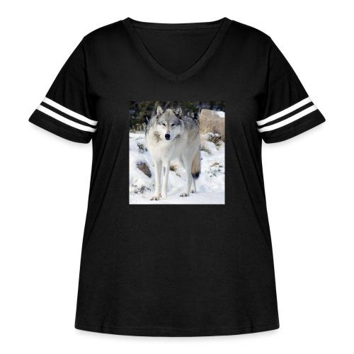 Canis lupus occidentalis - Women's Curvy Vintage Sport T-Shirt