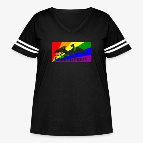 Dragon Pride - Women's Curvy Vintage Sport T-Shirt