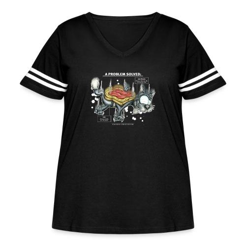Der Problemlöser_E - Women's Curvy Vintage Sport T-Shirt