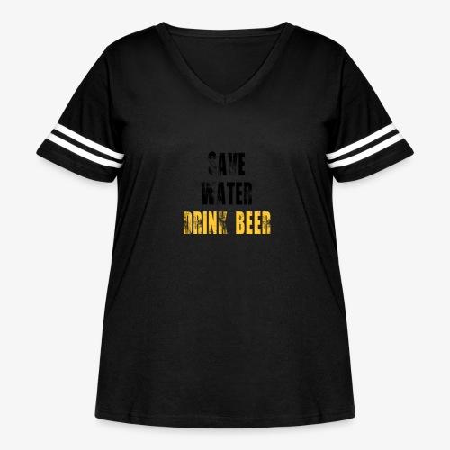 Save water drink beer - Women's Curvy Vintage Sport T-Shirt