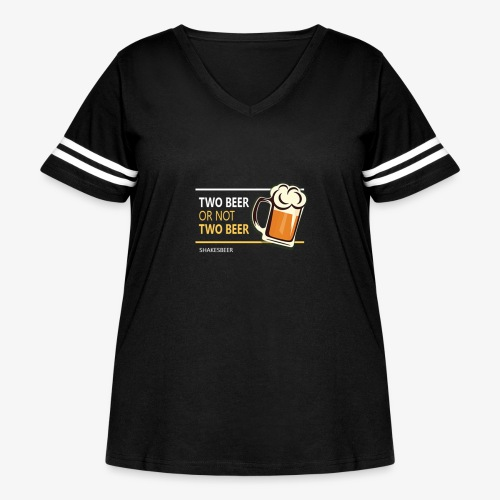 Two beer or not tWo beer - Women's Curvy Vintage Sport T-Shirt