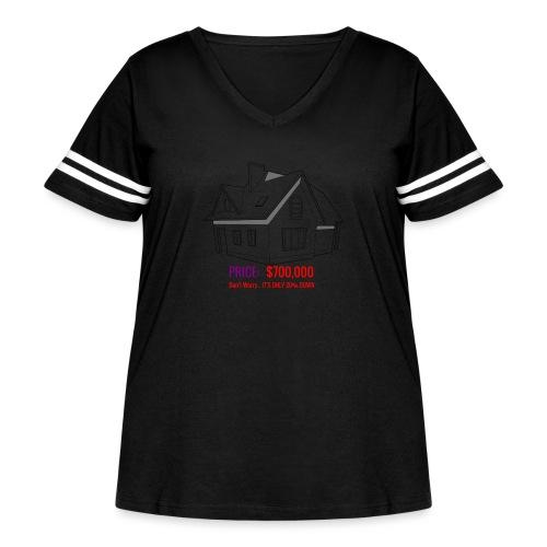 Fannie & Freddie Joke - Women's Curvy Vintage Sport T-Shirt