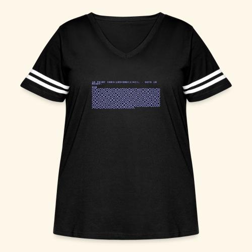 10 PRINT CHR$(205.5 RND(1)); : GOTO 10 - Women's Curvy Vintage Sport T-Shirt