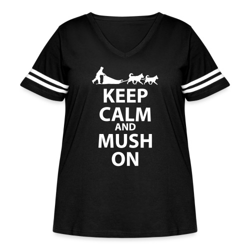 Keep Calm & MUSH On - Women's Curvy Vintage Sport T-Shirt