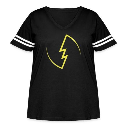 Electric Spark - Women's Curvy Vintage Sport T-Shirt