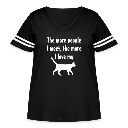 I love my cat - Women's Curvy Vintage Sport T-Shirt