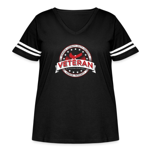 Veteran Soldier Military - Women's Curvy Vintage Sport T-Shirt