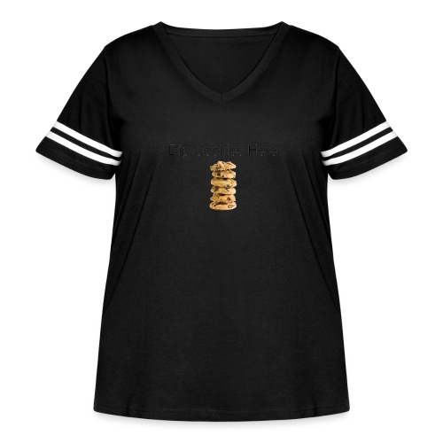 Dip Cookies Here mug - Women's Curvy Vintage Sport T-Shirt