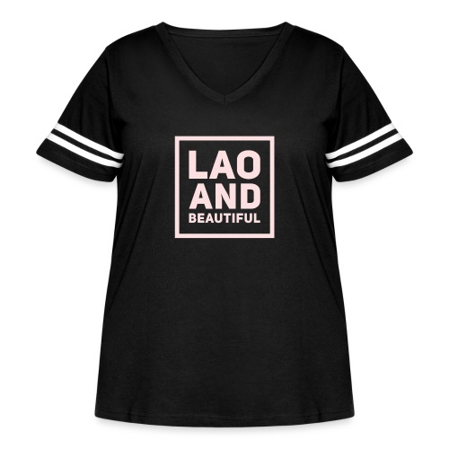 LAO AND BEAUTIFUL pink - Women's Curvy Vintage Sport T-Shirt